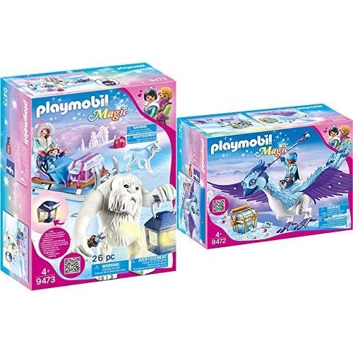 PLAYMOBIL 9473 Spielzeug-Schneetroll mit Schlitten, Unisex-Kinder &  9472 Spielzeug - Prachtvoller Phönix Unisex-Kinder