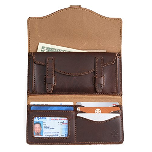 Our #9 Pick is the Saddleback Leather Long Trifold Checkbook Wallet