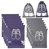 XDDIAS 12 Pcs Sac à Chaussures, Sacs de Voyage Imperméable Fenêtre Transparente Anti-poussière Rangemen Organisateurs