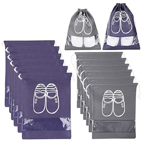 XDDIAS 12 Piezas Bolsa de Zapatos, Impermeable Bolsa a