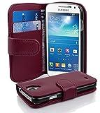 Cadorabo Coque pour Samsung Galaxy S4 Mini ORCHIDÉE Violets Housse de Protection Etui Portefeuille Cover pour S4 Mini – Stand Horizontal et Fente pour Carte
