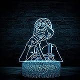 Usopp 3D ilusión noche luz infantil luces de noche para niñas lámpara de noche para niñas niños niños niños edad 5 4 3 1 6 2 7 8 9 10 11 años