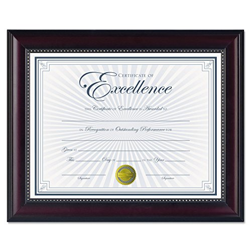 Price comparison product image DAX N3028N2T Prestige Document Frame,  Rosewood / Black,  Gold Accents,  Certificate