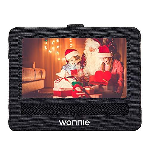 WONNIE - Soporte para reposacabezas de coche para reproductor de DVD portátil de 7,5 pulgadas, gran pantalla giratoria