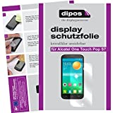 dipos I 2X Schutzfolie klar kompatibel mit Alcatel One Touch Pop S7 Folie Bildschirmschutzfolie