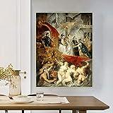 Ajwkob Pintura por números para Adultos, niños, póster de Cristo, Kit de Pintura al óleo sobre Lienzo con Pinceles y pigmentos acrílicos para decoración de la Pared del hogar (40 cm x 50 cm)