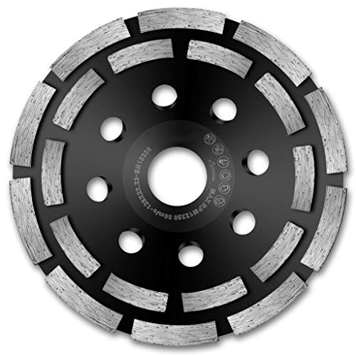 HERZO Grinding Cup Wheels, Diamond Cup 125mm Angle Grinder Disc for : Concrete, Marble, Granite, Natural Stone, Cement