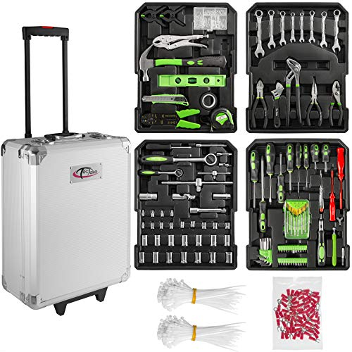 TecTake Maletín con herramientas de aluminio con 699pc piezas maleta trolley caja...