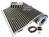 Calorique, rivestimento termico con pellicola a infrarossi, riscaldamento a pavimento, 50cm, 220W/m² riscaldamento a pavimento 0,5-15,0m², 230 volt