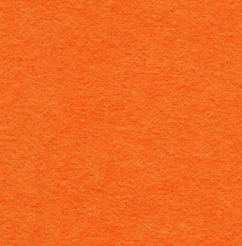 Filzstoff aus Wollmischgewebe, weich, einfarbig, zum Nähen, Orange, 10 cm x 10 cm