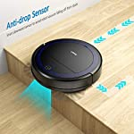 """Robit V7S PRO Robot Vacuum Cleaner, Upgraded 2000Pa Strong Suction, Ultra-Thin, Drop Sensor, Quiet, Self- Charging… 14 🐱 Enhanced 2000Pa Strong Suction: With the most advanced powerful motor, Robit V7S Pro Robot Vacuum has a 2000Pa intense suction, easily picking up dust and hair even from hard floor and carpet.3 Stage Cleaning System provided meets any various demands, you can choose whichever you like. 🐶 Slim Body & Super Quiet: Applying unique High quality Nidec brushless motor, this robot vacuum cleaner is endowed with mini noise while cleaning, so you can enjoy yourself with no disturbance. Only 3.1"""" height makes it easy to freely glide under the bed, the sofa or the table , and all the hidden dust can be swept away. 🐹 Schedule a Cleaning : Delivered by a Time Reservation, this robot vacuum pet can work perfectly as scheduled and multiple cleaning modes generates a customized cleaning routine."""