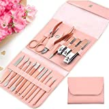 Manicure Set, Pedicure set,Grooming Kit-Stainless Steel Nail...