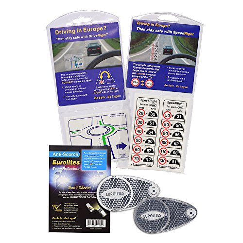Eurolites Adaptateurs pour phare avant + Sticker vitesse droite + Appareil de conduite dans la voie de droite