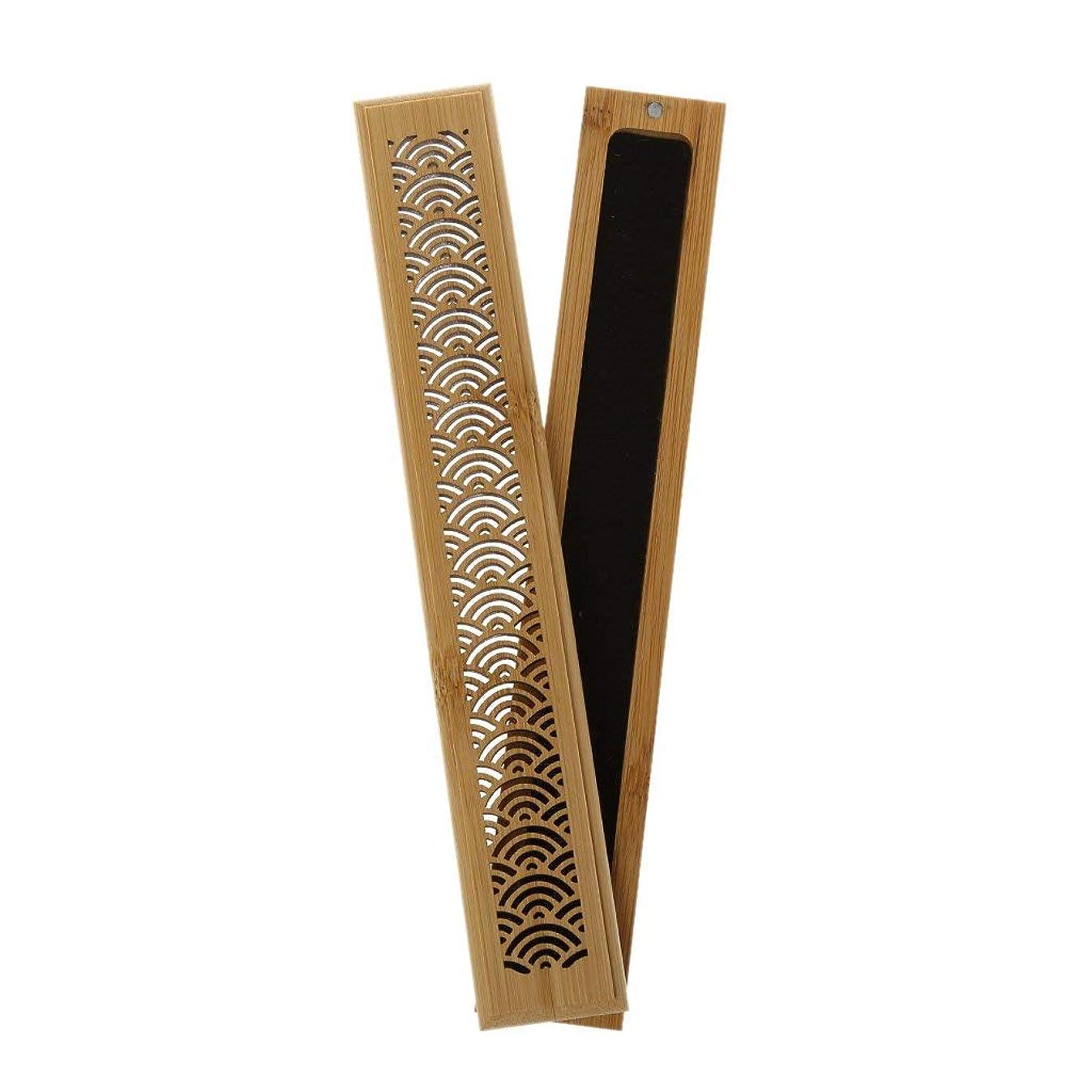 先駆者油期待してSimpleLife 竹の香炉バーナーの手彫り中空スティックボックスライジング香炉の家の装飾