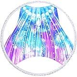 YDyun Toallas - Microfibra Toalla de Playa Toallas de Acampada Piscina Cola de pez Redonda del Color de la Estera de la Playa de la Toalla de baño 3D