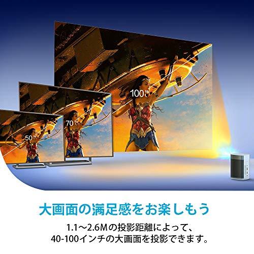 XGIMIMOGO210ANSIルーメンAndroidTV搭載ポータブルコンパクト小型プロジェクター4K対応DLP投影技術Harman/Kardonスピーカーオートフォーカス大容量バッテリー最大4時間再生