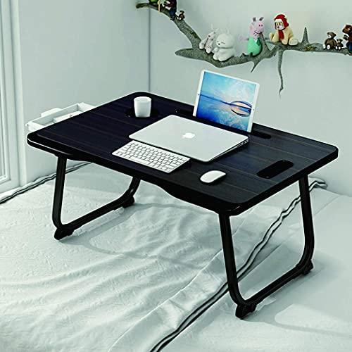 BAGZY Mesa de Cama, Plegable para Ordenador Portátil Mesa, Escritorio Mesa de Cama, Regazo Portátil Mesa, Desayuno, Lectura, Viendo una Película en la Cama, Sofá Mesa Negro