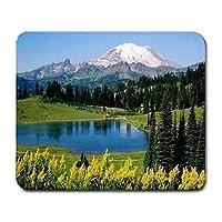 風光明媚な山の写真マウスパッドマウスパッド素晴らしい
