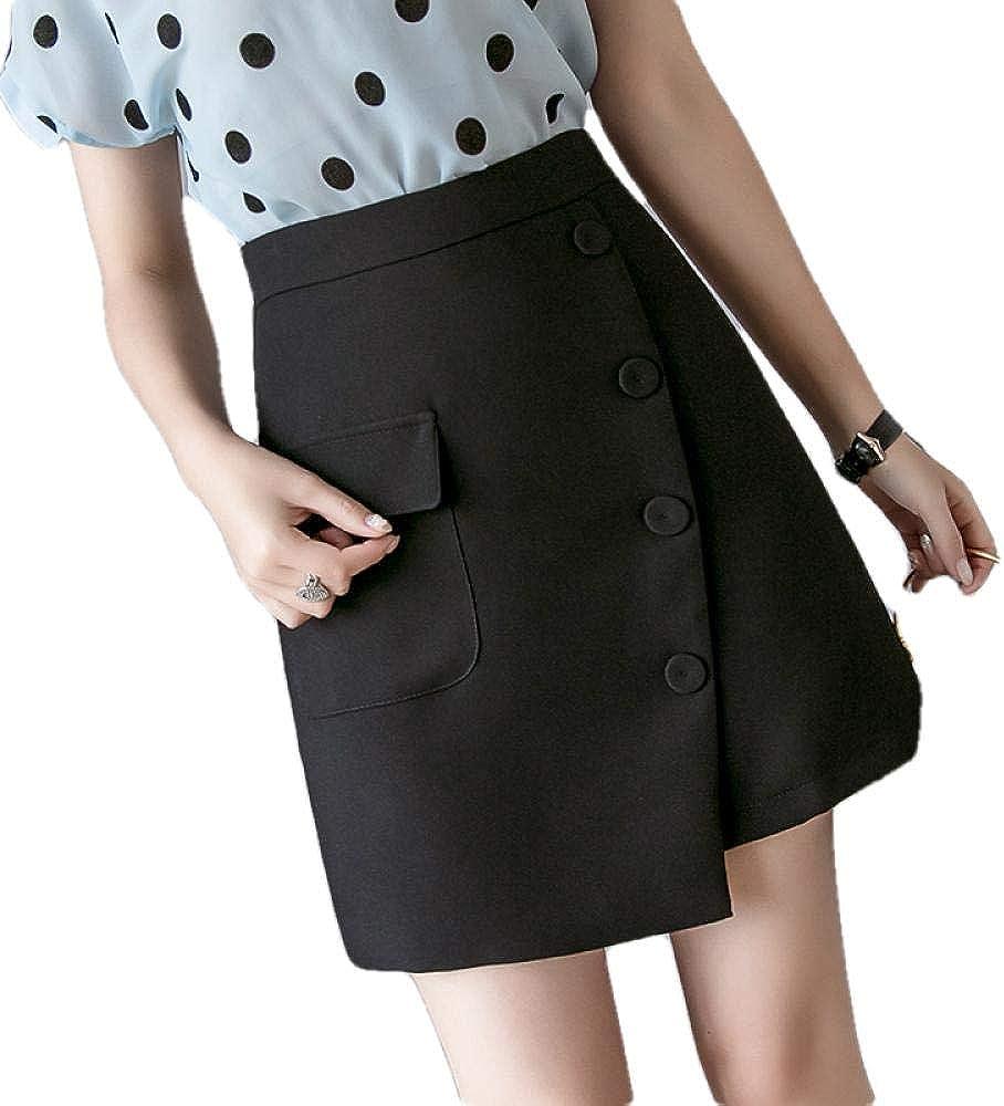 ERTYUIO Short Skirt Slip High Louisville-Jefferson County Mall Waist Skirts Our shop most popular Women Single-Breasted