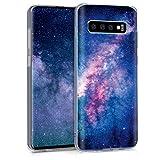 kwmobile Hülle kompatibel mit Samsung Galaxy S10 - Handyhülle - Handy Hülle Galaxie Sterne Rosa Pink Dunkelblau