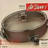 Arzum apos;Roma' ar264Oro XXL (Diámetro 40cm; profundidad 9cm) Party Sartén/sartén eléctrica Pizza eléctrico–Sartén (/antiadherente de revestimiento/1400W (100–240°C)/EN LA habitual calidad