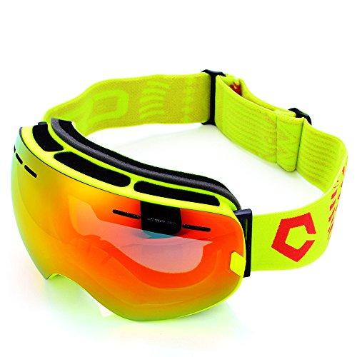 Nuevas gafas de esquí anti-UV de doble lente antiniebla gaf