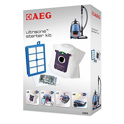 AEG USK2 Ultra One Vorteilspack, 4 s-bag Ultra Long Performance Gr210 Staubsaugerbeutel + Allergy plus Filter, für AEG UO, UOECO, UOGREEN, AUO 8815