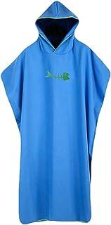 laamei Adulto Unisex Poncho de Surf con Capucha Toalla de Baño Verano Vestidos Albornoz de Nadada o de Playa Suave Secado Rápido(109x80cm)