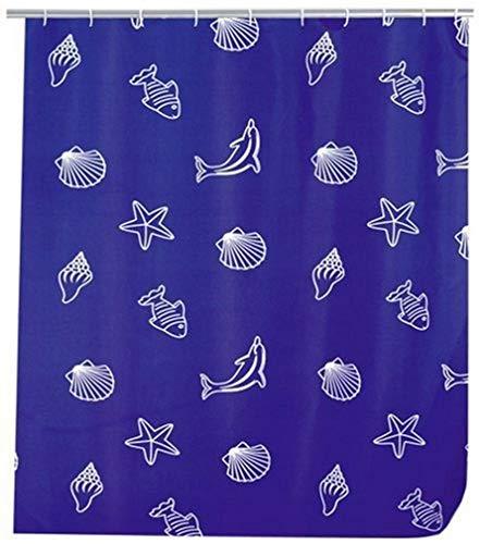 WENKO 19182100 Duschvorhang Seaside - hochwertiges Textilgewebe, 180 x 200 cm