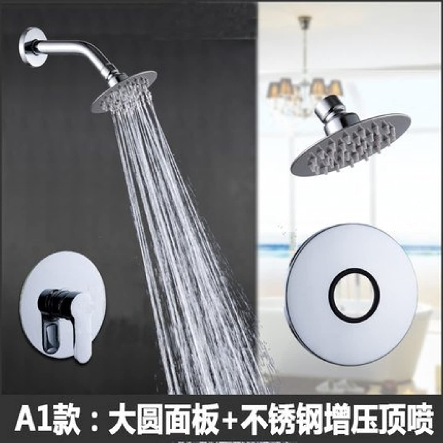 Free shipping in wall shower faucet brass bathroom shower set hot and cold bath mixer valve wall mounted rain shower sets faucet,White