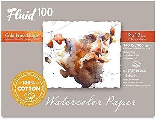 nueva gama alta exclusiva Handbook Paper Fluid 100 WaterColor WaterColor WaterColor CP 140 LB Ez-Block 9 x 12  preferente
