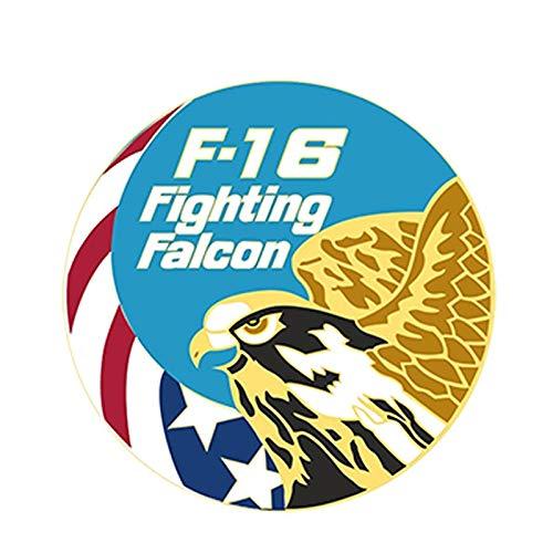 Car Personalizada Sticker Decal F-16 Fighting Falcon de Adhesivos de Parachoques Impermeable Casco Reflectante decoración de 13x13cm 2pcs (Color : 1, Size : Reflective)