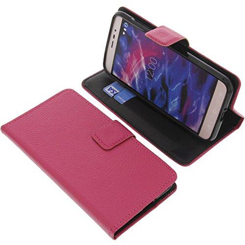 foto-kontor Tasche für MEDION Life E5006 Book Style pink Schutz Hülle Buch