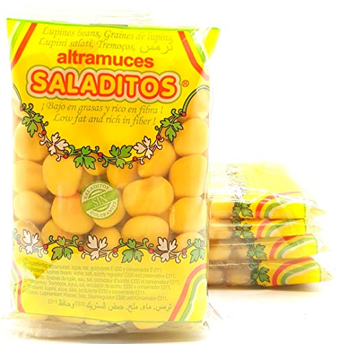 Altramuces Saladitos 5 packs de 4 bolsitas de 100 g