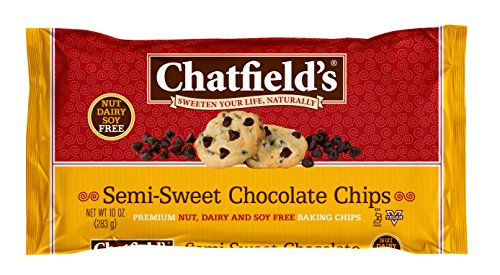 Chatfield's Semi-Sweet Chocolate Chips, Nut Dairy and Soy Free Vegan Baking Chips, 10 oz. Bag, 1-Pack