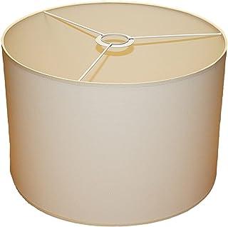 Abażur 350x230 mm średnica x wysokość   Walec   Bawełna ecru (kremowa)   Pod oprawkę E27 (dużą)   Do lamp stołowych, podło...