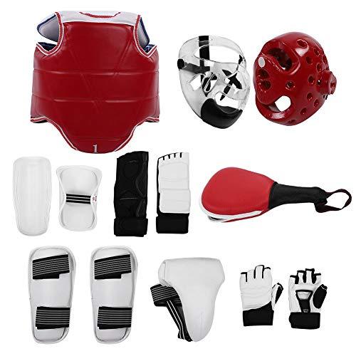 Hiwill Guantes de Taekwondo Calzado Equipo de protecci/ón Ni/ños Adultos Manoplas Pies Medio Dedo Guantes de Boxeo Equipo de protecci/ón de Taekwondo