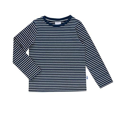 Finkid Sampo navy offwhite Kinder Jersey Ringel Langarmshirt mit Streifen