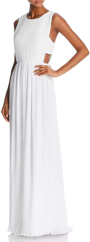BCBG Max Azria Womens Raven Crinkled Sleeveless Evening Dress