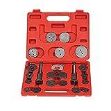 LARS360 Reposicionador de pistones de freno Sets de herramientas para las pinzas de freno 22 piezas set de herramientas para vehículos