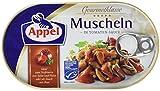 Appel Muscheln in Tomaten-Sauce, 8er Pack Konserven, Muscheln in Tomatensauce