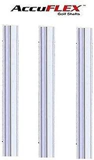 Accuflex 3 Shafts Stepless Steel PGA Golf Iron Shafts .370 -A,R,S or X