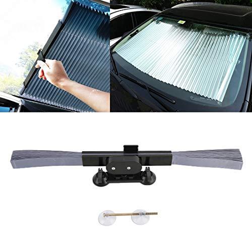 WXX automóvil Presione retráctil Parabrisas Parasol Cubierta del Bloque de la sombrilla Solar de UV Protect, Tamaño: 46cm