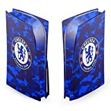 Head Case Designs Officially Licensed Chelsea Football Club Camouflage Mixed Logo Vinyl Faceplate Sticker Gaming Skin Decal Cover Compatible With Sony PlayStation 5 PS5 Disc Edition Console