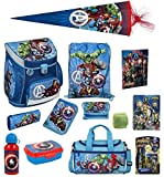 Familando Avengers Schulranzen-Set 18tlg Scooli Campus Fit mit Sporttasche Federmappe gefüllt...