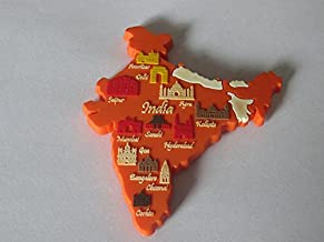 India Silicon Fridge Magnet (Orange)