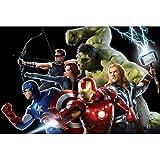 CHENGXI Marvel Avengers 300/500/1000 Piezas Puzzles Adultos Niños Madera Iron Man Hulk Capitán América Rompecabezas Juguetes, 3 Estilos R/530 ( Color : A , Size : 500 Pieces )