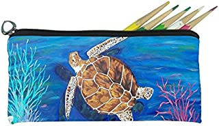 Small Pencil Bag, Soft Eye Glasses Case - From My Paintings (Animals) - Great for Kids of All Ages small