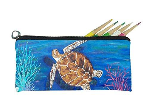 Salvador Kitti Small Pencil Bag (Loggerhead Sea Turtle - The Pilgrim)