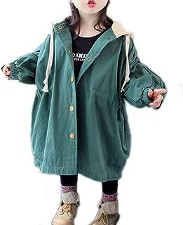 JIANLANPTT Toddler Baby Long Trench Coat Korean Style Hooded Windbreaker Jacket